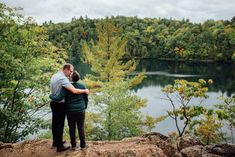 Intimate, September Engagement Photos at Pink Lake, QC (Sept. by the talented Saidia Photography (Clayton, ON). Lake Engagement Photos, Engagement Session, Pink Lake, Photo Location, September, Park, Couple Photos, Photography, Travel