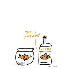 Vodka just awesome water lol Funny Cute, The Funny, Hilarious, Lol, Friday Humor, Just For Laughs, Laugh Out Loud, Make Me Smile, I Laughed
