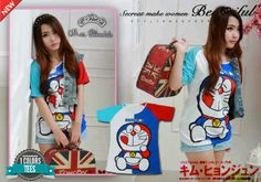 Baju  Model Korea Doraemon S175 Murah