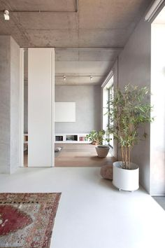 Traditional Japanese interiors and natural landscapes influenced the design of this apartment in Moscow, which was recently renovated by local studio M17