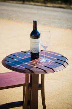 Wine Barrel Top Bistro Table by ByGordonLiving on Etsy