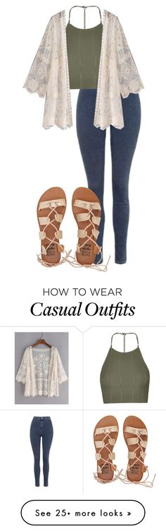 """Casual OTD"" by musickilledme on Polyvore featuring Topshop and Billabong"