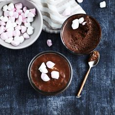 Silky Chocolate Mousse with Marshmallows by Nadia Lim | NadiaLim.com
