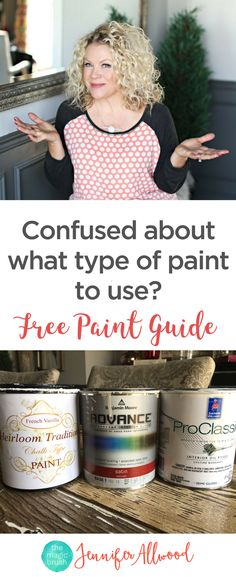 Confused on what typeof paint to use and when? Faux Pro Painter Jennifer Allwood gives your painting guidances. Including: what Kind of Paint to use, Chalk paint vs Latex Paint vs Oil-based Paints and what surfaces to which paints on, the pros and cons of each kind of paint. Also What kind of Paint to use on Kitchen Cabinets and Furniture Trim and Fabric!