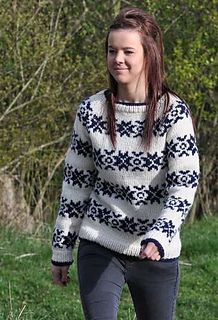 Ravelry: The Killing Snowflake Sweater in Fritidsgarn pattern by SKD Yarns Jumper Knitting Pattern, Chunky Knitting Patterns, Knitting Wool, Knitting Sweaters, Knitting Ideas, Wool Yarn, Crochet Patterns, Clothing Patterns, The Ordinary