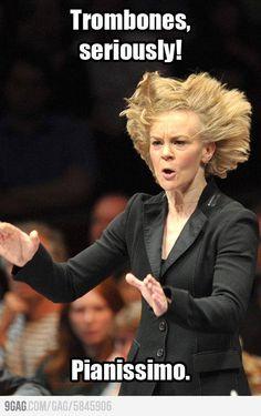 Hey not fair trombones are cool! Loud equals better!