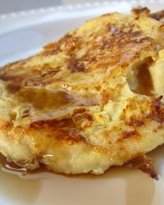 English Muffin French Toast - soak English muffins overnight in an Egg Beater and milk mixture for a guilt-free breakfast!