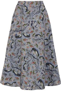 Multicolored jacquard Concealed hook and zip fastening at back 87% polyester, 13% polyamide; lining: 100% silk Dry clean Designer color: Paisley Vine