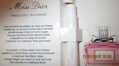 Miss Diorin absolutely blooming, Dior eau de parfum miellyttävä tuoksuinen parfyymi.