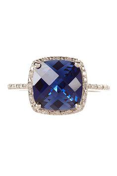 Pave Diamond & Sapphire Ring <3