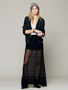 free people stevie sheer lace maxi.