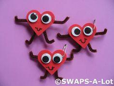 Googley Eye Heart Girl Scout SWAPs