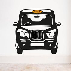 Personalised London Cab Front Wall Sticker by Oakdene Designs, the perfect gift for Explore more unique gifts in our curated marketplace. Personalised Wall Stickers, Boys Wall Stickers, Wall Decals, Wall Vinyl, London Bedroom Themes, A Study In Pink, Kids Decor, Decor Ideas, Design