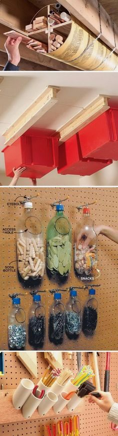 Beginners: Introduction To First Time Crafts Shed Plans - Clever Garage Storage and Organization Ideas Now You Can Build ANY Shed In A Weekend Even If You've Zero Woodworking Experience!Shed Plans - Clever Garage Storage and Organization . Diy Storage Shed Plans, Diy Garage Storage, Tool Storage, Storage Ideas, Storage Hacks, Kitchen Storage, Storage Center, Diy Kitchen, Basement Storage