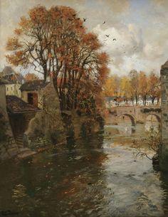 Quimperle, Bretagne, Frits Thaulow. Norwegian Impressionist Painter (1847 - 1906)