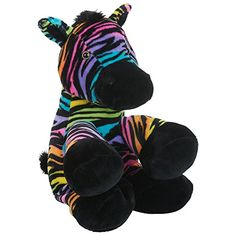Toys R Us Plush 12 inch Rainbow Zebra - Multicolored *** Check this awesome product by going to the link at the image. (This is an affiliate link) #PlushFigures