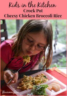 Crock Pot Cheesy Chicken & Broccoli Rice-Flour On My Face #ad #BensBeginners