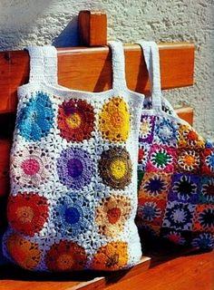 Stylish Easy Crochet - Crochet bags  - granny squares/circles