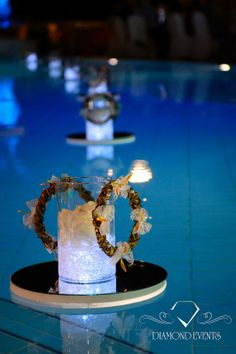 Pool Wedding Ideas if youre lucky enough to have a built in pool this is a Swimming Pool Wedding Decor For More Ideas Visit Diamondeventsgr