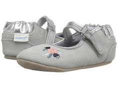 01da21caf5 Robeez Blossom Ballet Mini Shoes (Infant Toddler) (Grey) Girl s Shoes. For  Robeez Size Chart The Blossom Ballet Mini Shoes are perfect for everyday or  ...