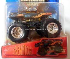 2005 Hot Wheels Cremator #9 Monster Jam 1:64 Hearse Concept Truck Retired #HotWheels #9Cremator