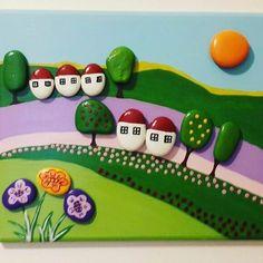 #tasboyama #taşboyama  #tasboyamasanati  #paint  #tablo #akrilik #hobi #elyapimi…