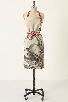 octopus apron from Anthropologie