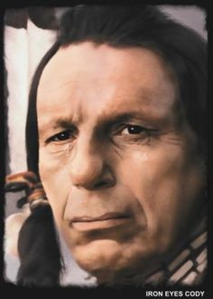 Creek Actor Iron Eyes Cody Pouts at the devastation of our environment