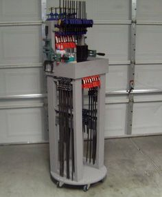 """Small Shop"" mobile clamp rack"