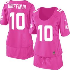 the latest bcccd 8d521 Women s Nike Washington Redskins  10 Robert Griffin III Elite Pink Breast  Cancer Awareness Jersey  109.99