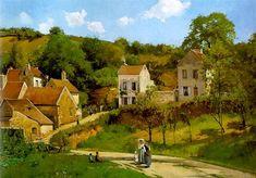 L'Hermitage at Pontoise, 1867 - Camille Pissarro