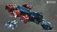 Ragachak dodges meteors in the void learning how to build his own dream space ship in Space Engineers, a new sandbox MMO set in the expansive blackness.