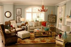 Really like the look of this living room!