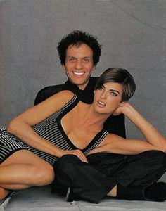 Linda Evangelista with Azzedine Alaia
