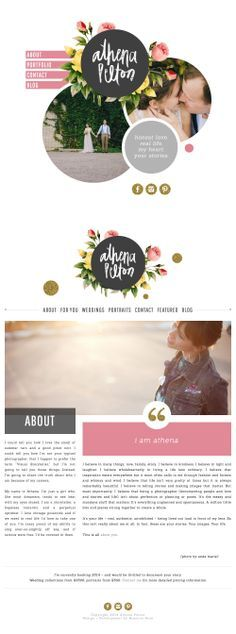 Athena Pelton #branding #webdesign I like the use of space her vs a top bar on…