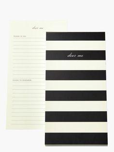 """dear me"" notepad"