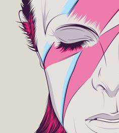 David Bowie by CranioDsgn , via Behance: Bowie Tattoo, Ziggy Stardust, Arte Pop, Angela Bowie, Pop Art, David Bowie Art, Major Tom, Cultura Pop, Storyboard