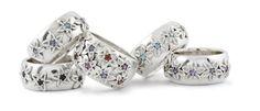 Handmade Daisy Rings Set With Semi Precious Colored Gemstones Daisy Ring, Bespoke Jewellery, Bespoke Design, Gemstone Colors, Jewelry Shop, Gemstones, Rings, Silver, Gold