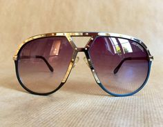 e9db3c84825 Alpina M1 Grey Gold Vintage Sunglasses NOS including Alpina Flip-Open Case Vintage  Sunglasses