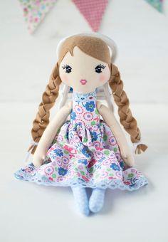Rag Dolls, Fabric Dolls, Ballerina Doll, First Baby, Handmade Baby, Doll Clothes, Organic, Etsy Shop, Beige