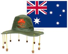 #Australian cork hat & aussie flag 5ft x 3ft australia day #fancy #dress dundee s,  View more on the LINK: 	http://www.zeppy.io/product/gb/2/291040212332/
