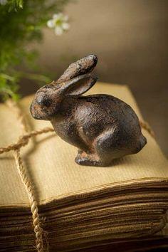 Mothology.com - Cast Iron Bunny Rabbit, $9.50 (http://www.mothology.com/cast-iron-bunny-rabbit/)