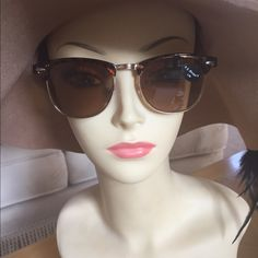 """Sunglasses/Readers (1.50) for Reading Outdoors These are classy in Leopard print with Ray Ban type rims. Great for the beach, boat or patio. UV 400. 5.5"""" across the front and 5.5"""" side piece depth. AJ Morgan Accessories Sunglasses"""