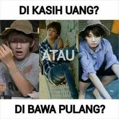 Read 2 from the story BTS MEME & BTS Salah Gaul by (Hanse) with reads. Dankest Memes, Jokes, Memes Funny Faces, Live Wallpapers, Bts Boys, My Idol, Taehyung, Comedy, Lol