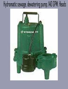 Automatic sump pump with dewatering pump, 140 GPM