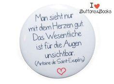Liebeszitat-50mm-Button-Anstecker-groß-Liebe+von+Buttons&Books+auf+DaWanda.com