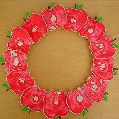 CRAFT PROJECTS~  This site has tons of crafts for kids, and that kids can make for others like this cute Apple Wreath.  Browse the menu for homemade crafts, edible crafts, holiday crafts, and much more!