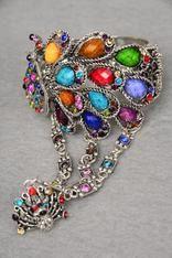 Peacock bling ring bracelet Buy it here:http://www.sassnfrass.net/#Lorissaleigh