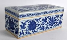 A Chinese Ming Dynasty Blue And White Box And Cover