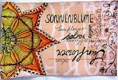 Sunflower Mail Art by tangledpen, via Flickr